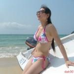 Diao Jirun at the beach